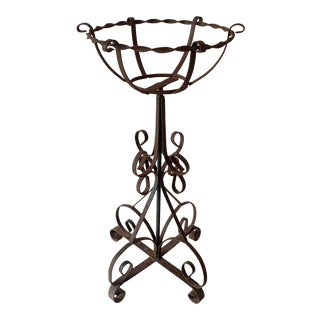 Antique Iron Plant Stand For Sale