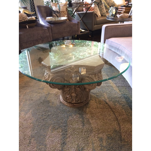 Parisian Capitol Round Glass Table For Sale In Sacramento - Image 6 of 7