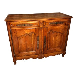 Mid 19th Century French Belgian Country Style 2 Door Buffet For Sale