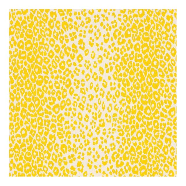 Schumacher Leopard Yellow End Panels - a Pair For Sale