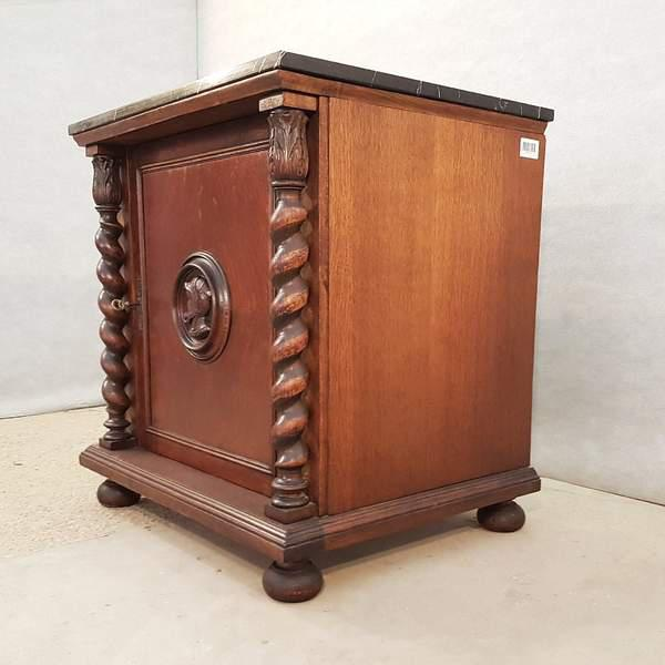 This fine confiturier cupboard small cabinet has a rectangular marble top and is raised on wide bun feet. Its robust yet...