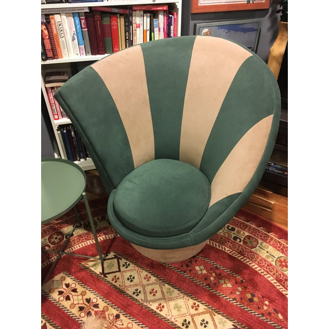 1980s Vladimir Kagan for Weiman Vintage 20th Century Swivel Chairs - a Pair For Sale - Image 5 of 12