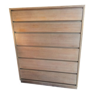 Vintage 1960s Mid Century Modern Retro Blonde Mahogany Dresser High Chest