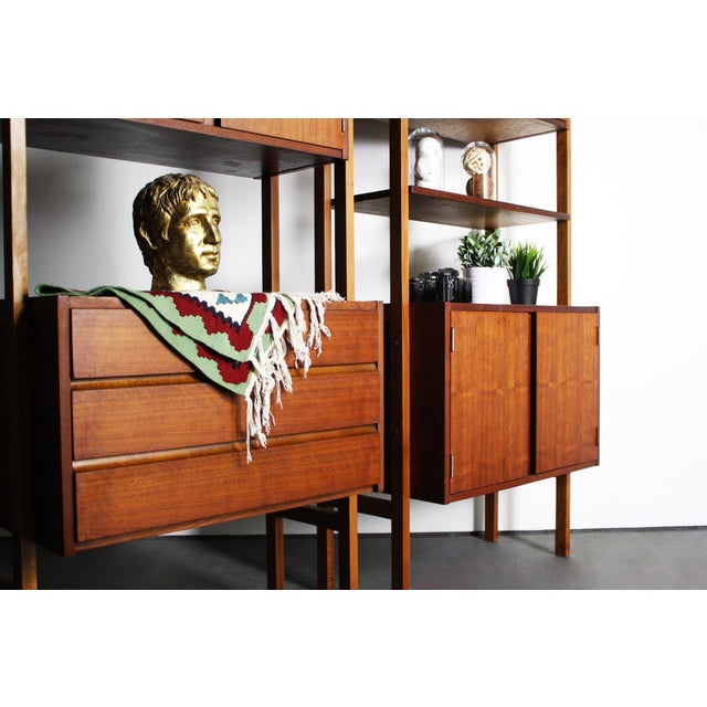 Mid-Century Modern Yugoslavian Mid-Century Teak Wall Units - A Pair For Sale - Image 3 of 9
