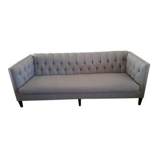 "Robin Bruce ""Brette Bench"" Grey Tufted Sofa"