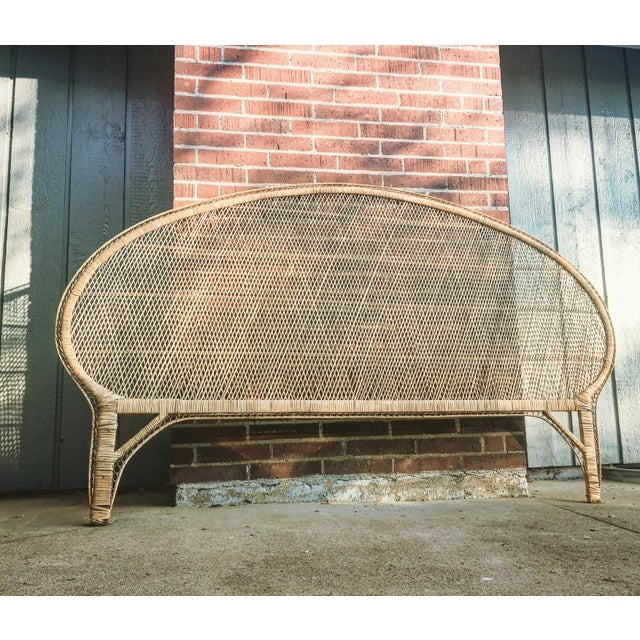 A fabulous vintage rattan headboard in King size! This would be a great addition to your Bohemian bedroom decor. Add some...