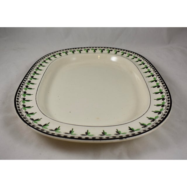 A rare find, an oversized creamware platter from Josiah Spode, circa 1785. Spode is an English brand of pottery founded by...