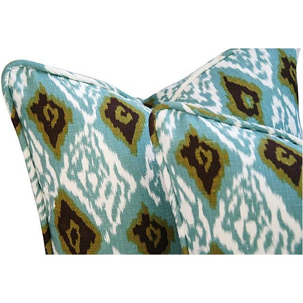 Custom Eaton Square Firebird Linen Pillows - Pair - Image 3 of 7