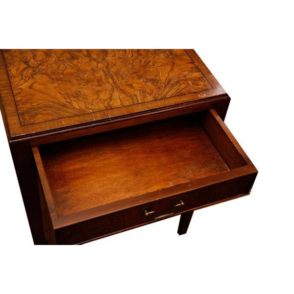Mid-Century Modern Burlwood Side Table For Sale In New York - Image 6 of 6