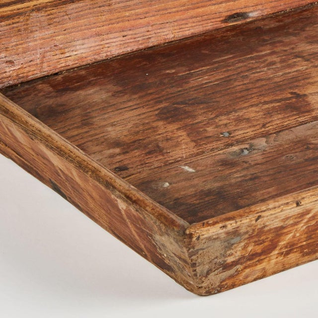 Late 19th Century Chinese Primitive Wooden Tray For Sale - Image 4 of 5
