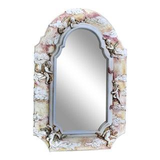 Custom French Plaster Cherubim Mirror For Sale