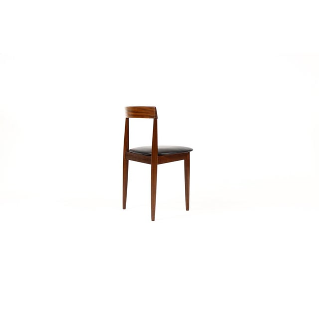 Hans Olsen for Frem Rojle Danish Modern / Mid Century African Teak Dining Chairs - Set of 4 For Sale In Los Angeles - Image 6 of 11
