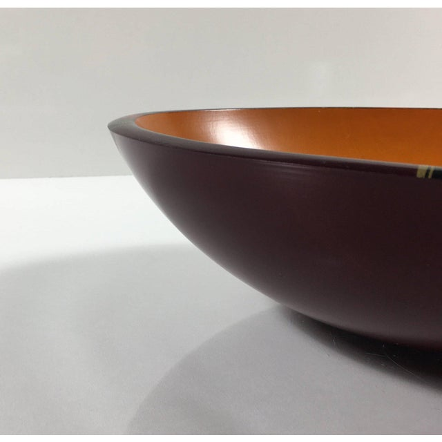 Mid-Century Modern Peggy Potter Wooden Bowl For Sale - Image 4 of 11
