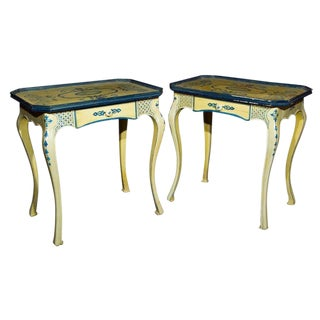 Air of Painted French Side Tables For Sale
