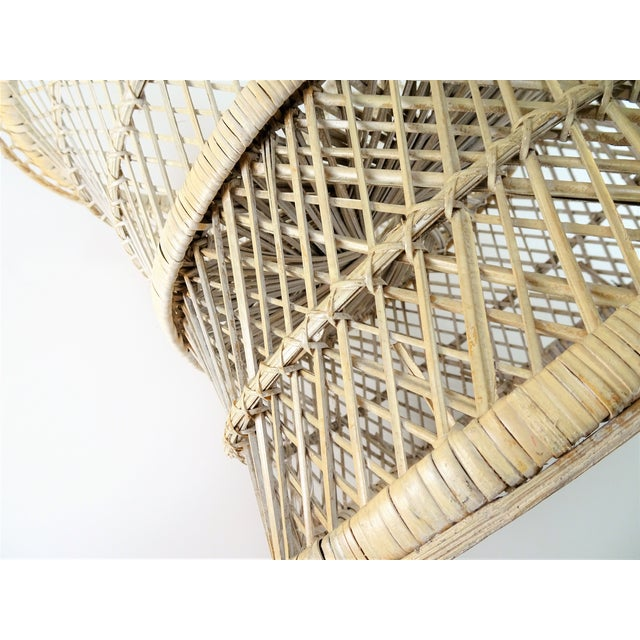20th Century Boho Chic Woven Plant Stand For Sale - Image 4 of 8