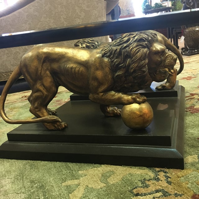 Medici Bronze Lions Cocktail Table - Image 5 of 10