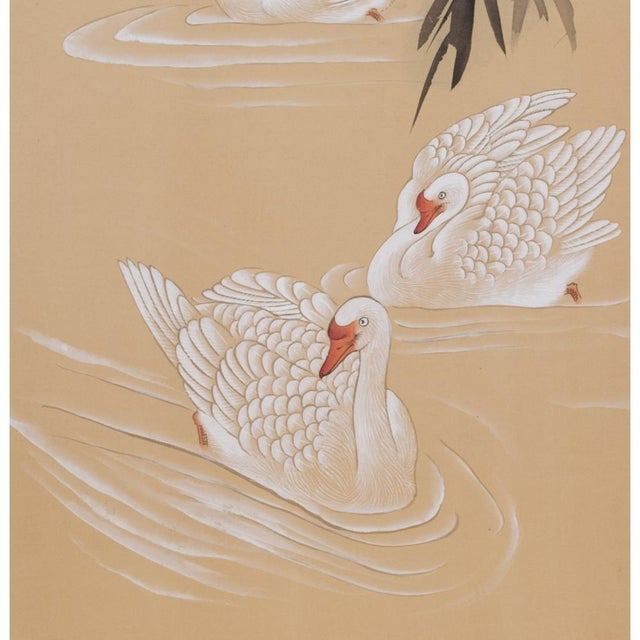 C. 1940s Chinoiserie Swan Screen For Sale In Dallas - Image 6 of 13