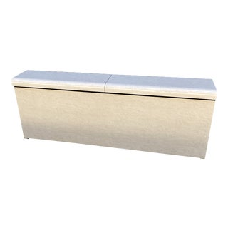 Postmodern Laminated Chest King Headboard/Console For Sale