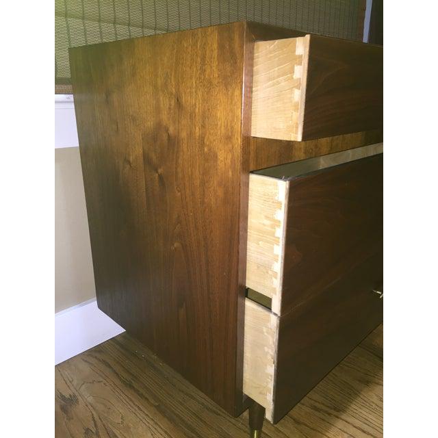 Danish Modern Low Teak Dresser Chest - Image 5 of 8