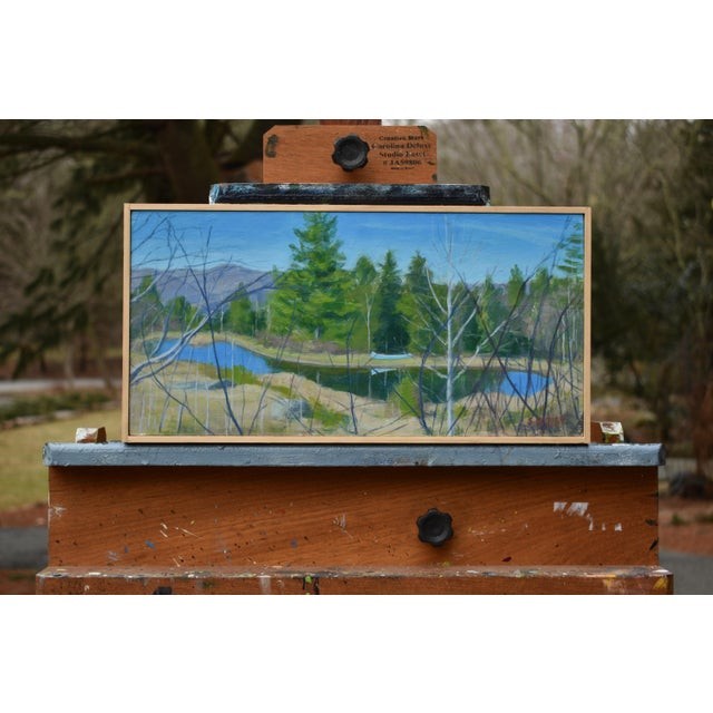 """Titled """"Canoe with Pond and Mountains"""". This is in central Vermont. I kept driving by this scene, each time saying to..."""
