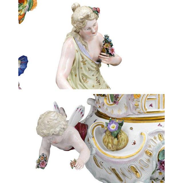 Meissen Porcelain Meissen Autumn and Summer Porcelain Urns For Sale - Image 4 of 7