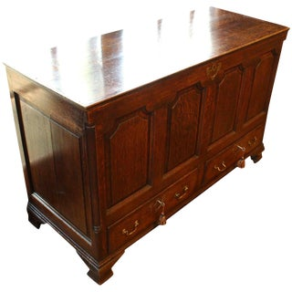 George III Oak Mule Chest