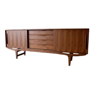 Extra Long Mid Century Modern Teak Credenza Sideboard For Sale