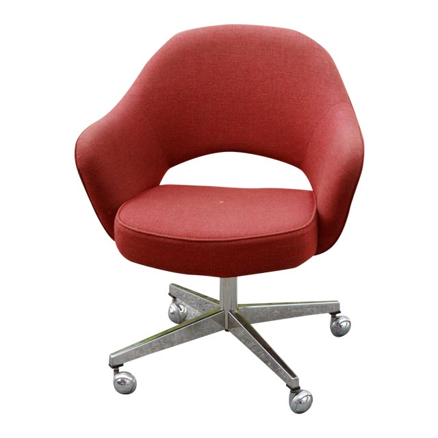 Saarinen Red Executive Office Desk Chair - Image 1 of 10
