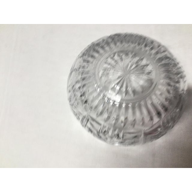 Contemporary Mid 20th Century Christmas Trees Lead Crystal Serving Bowl For Sale - Image 3 of 5