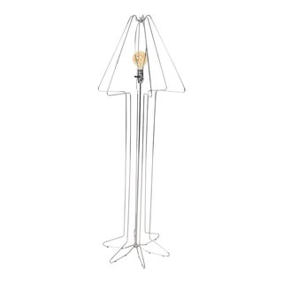 1970s Koch & Lowy Chrome Tubular Architectural Floor Lamp George Kovacs Style For Sale
