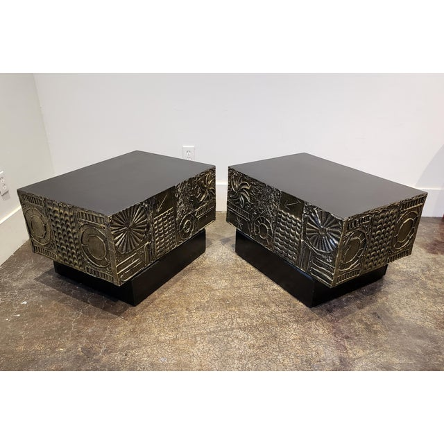 Black Adrian Pearsall Brutalist Side or Coffee Tables a Pair For Sale - Image 8 of 11