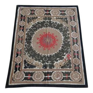 Vintage Hand Embroidered Silk Thread on Cotton Ground Samarkand