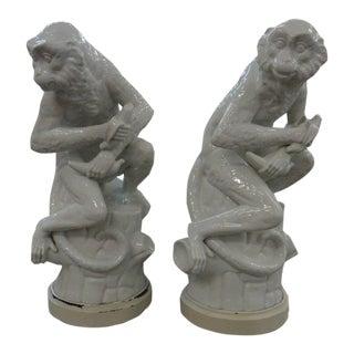 Palm Beach Regency Monkey Lamps - a Pair For Sale
