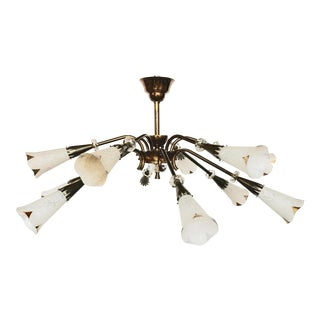 ROYAL LUMIERES 12 Lights Flush Mount For Sale
