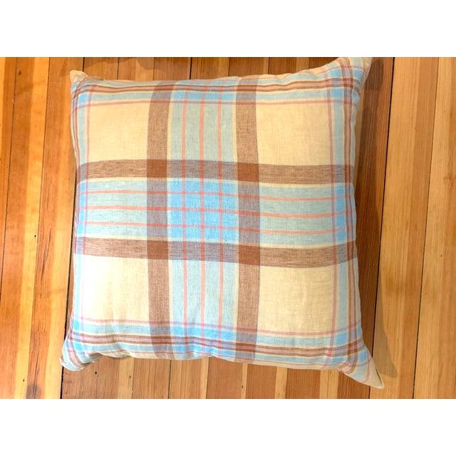 Linen Tea Towel Pillows- Set of 3 For Sale - Image 4 of 7
