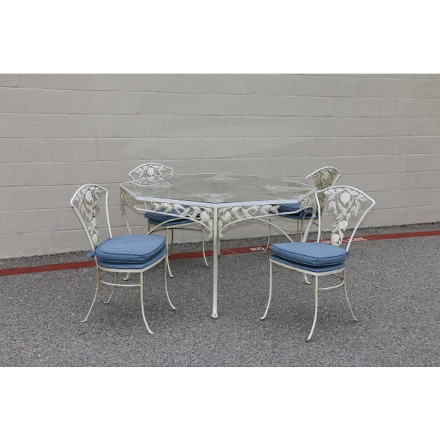 Metal Fruit Accent Patio Set - Set of 5 For Sale - Image 11 of 13