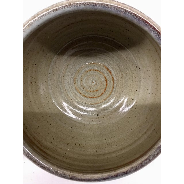 Vintage Hand Thrown Clay Bowls - A Pair For Sale - Image 12 of 13
