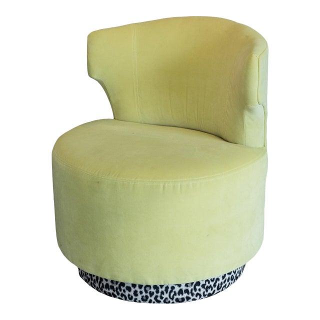 Green Beryl Swivel Chair For Sale