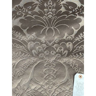 Italian Baroque Brocatelle in Silk Blend Fabric - 14 3/4 Yards For Sale