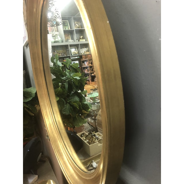 Mid 20th Century Vintage Gold Leaf Mirror For Sale - Image 4 of 5