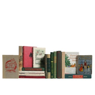 Ye Olde Vintage Christmas Book Set, S/17 For Sale