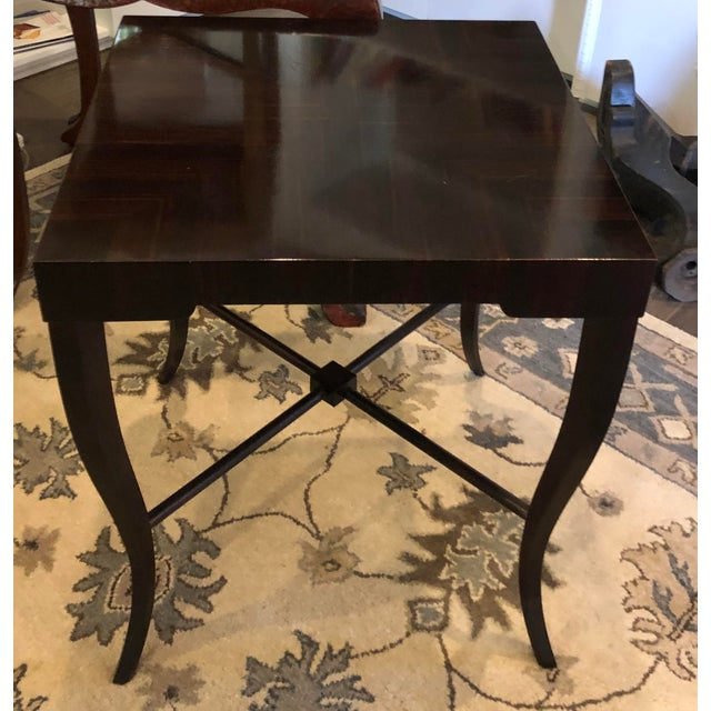 J. Alexander Art Deco Modern Designer Macassar Ebony End Table. Retailed by Witford.