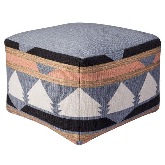 Geometric print pouf - Image 1 of 2