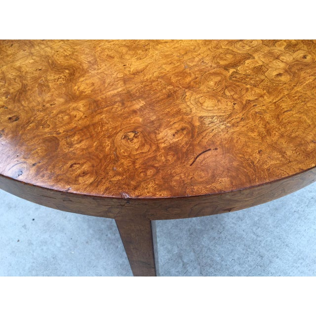 Art Deco Burl Wood Table For Sale - Image 4 of 7