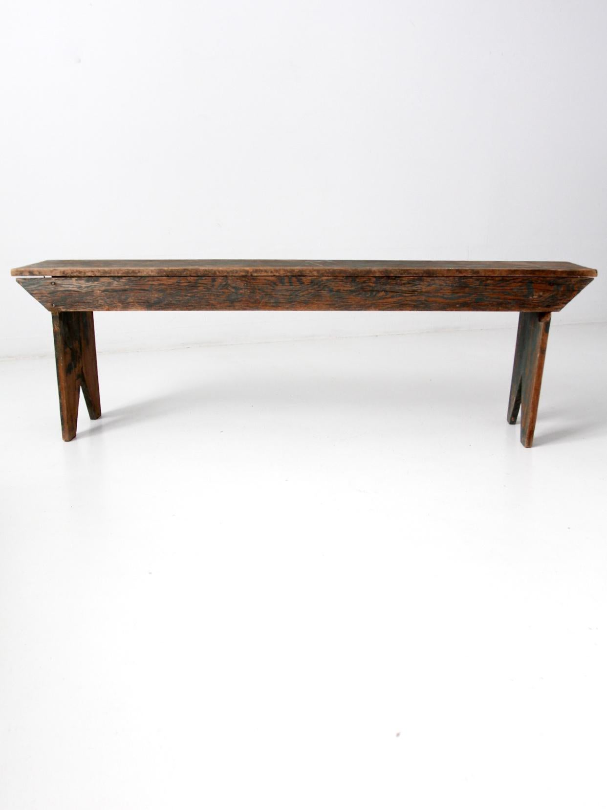 antique wooden bench. Antique Wooden Bench - Image 11 Of