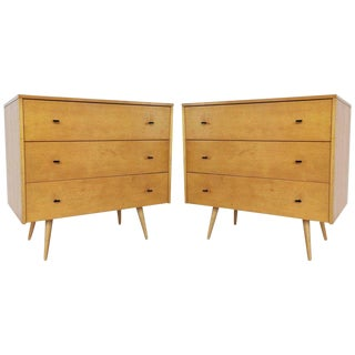 Pair of Paul McCobb Three-Drawer Planner Group Dressers/Chests For Sale