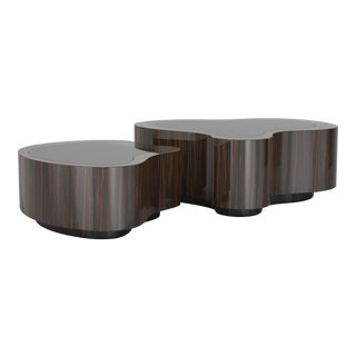 Covet Paris Wave Ebony Coffee Table For Sale