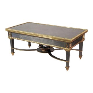 Louis XVI Style French Ormolu-Mounted Steel Coffee Table For Sale