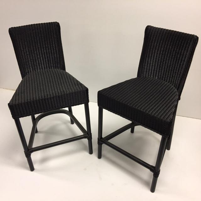 Black Loom Counter Height Stools - A Pair - Image 2 of 5