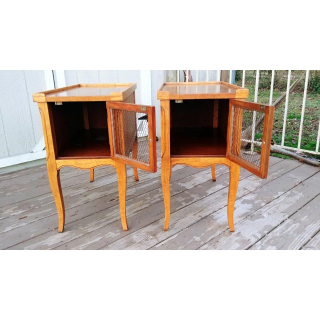 1980s French Walnut End Tables - a Pair For Sale - Image 9 of 13